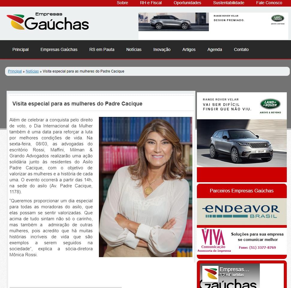 07.03.2019 Empresas Gauchas acao asilo padre cacique RMMG