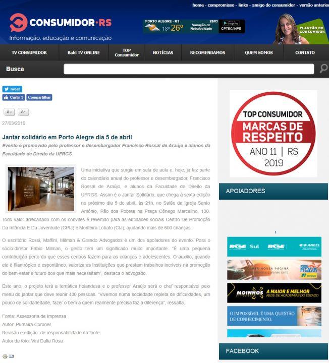 27.03.2019 Consumidor RS VI Jantar Solidario RMMG